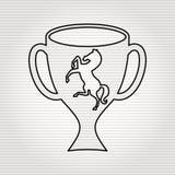 Horsemanship icon design Stock Images