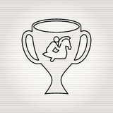 Horsemanship icon design Stock Photos