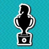 Horsemanship icon design Royalty Free Stock Image