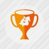 Horsemanship icon design Royalty Free Stock Photos
