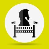 Horsemanship icon design Royalty Free Stock Images
