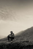 A horsemen of Bromo volcano, Bromo, Indonesia Stock Images