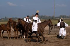 Horsemen, Bugac, Hungary Stock Photography