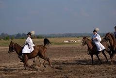 Horsemen, Bugac, Hungary Stock Images