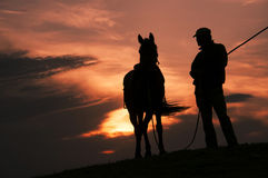 These horsemen. China's Inner Mongolia grasslands during the night a wrangler Royalty Free Stock Photos