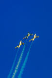 Horsemen F-86 Sabres. Hillsboro, Oregon - September 20, 2014: Bremont Horsemen F-86 Sabres perform at Oregon International Air Show Stock Images