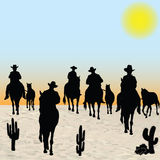 Horsemen Group. Outdoors animal western Royalty Free Stock Photo