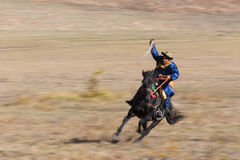 The Horsemen,Knight. The rider. Nomads. Royalty Free Stock Photo