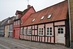 Horsens oude stad in Denemarken Scandinavië royalty-vrije stock foto's