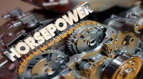 Horsepower Engine Vehicle Fast Speed Energy Word Stock Photography