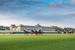 Horserace w Chantilly zdjęcie royalty free