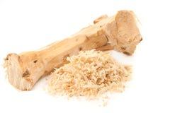 Horseradish. Fresh horseradish isolated on white stock image