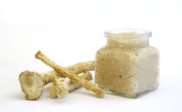 Horseradish. On the table ready for easter Royalty Free Stock Photography