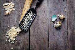 Horseradish root. Stock Photo