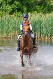 Horserider in the lake Royalty Free Stock Photography