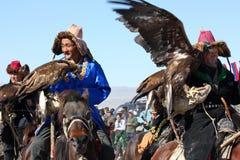 Horseriders auf Mongolian Lizenzfreies Stockbild