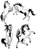 Horses. This is a horse tattoo Illustrations Royalty Free Stock Photos