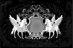 Horses And Wings Royalty Free Stock Images