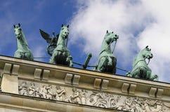 Horses of Brandemburg. Sculpture on top of Brandemburg Gate, in Berlin Royalty Free Stock Image