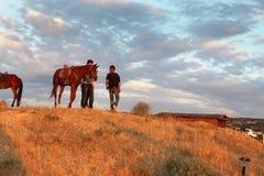 Horses in Cappadocia Stock Images