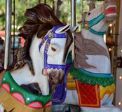 Horses on carousel Royalty Free Stock Image