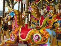 Horses on a carousel Royalty Free Stock Photo