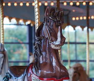 Horses On Carousel Royalty Free Stock Image