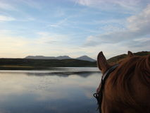 Through the Horses Ears Coniston Royalty Free Stock Photography
