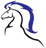 Horses emblem Royalty Free Stock Image