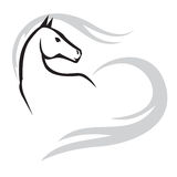 Horses emblem Royalty Free Stock Images
