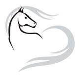 Horses emblem Royalty Free Stock Images