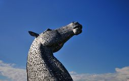 Horses head made of steel. Stock Photography
