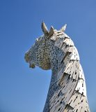 Horses head made of steel. Royalty Free Stock Photo