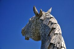 Horses head made of steel. Stock Photos