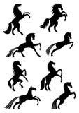 Horses heraldic silhouette vector icons Royalty Free Stock Photos