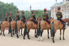 Horses and london Guard Royalty Free Stock Photography