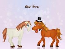 Horses in love vector illustration