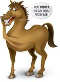 From the horses mouth. Cartoon illustration of the saying from the horses mouth Royalty Free Illustration