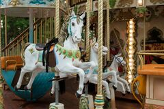 Free Horses On The Merry-go-round Royalty Free Stock Image - 172556366