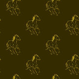 Horses pattern Royalty Free Stock Image