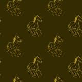 Horses pattern Royalty Free Stock Image