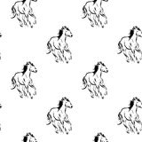 Horses pattern Royalty Free Stock Photo