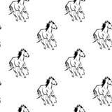 Horses pattern Royalty Free Stock Photo