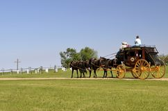 Horses pulling a stagecoach Royalty Free Stock Photo