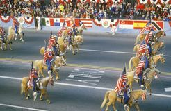 Horses in Rose Bowl Parade, Pasadena, California Royalty Free Stock Photography