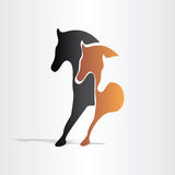 Horses running abstract design Stock Photography
