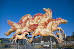 Horses Sculpture. On Xinghai Square,Dalian in Chinese Lunar New Year Royalty Free Stock Image