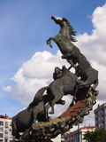 Horses sculpture in Spain Square in Vigo Stock Photography