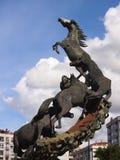 Horses sculpture in Spain Square in Vigo Stock Photography