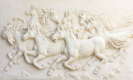 Horses sculptures,Use to decorate.  royalty free stock photos